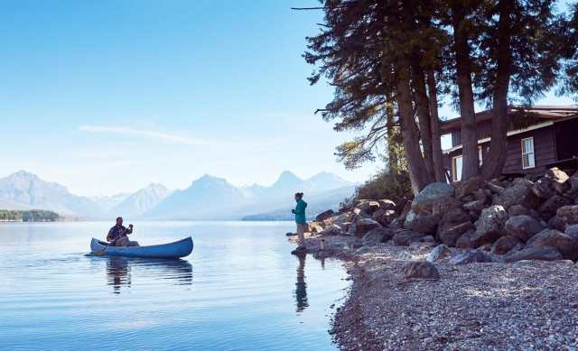 Cabin Creek Landing FAQs Places & Activities lakeside with a canoe