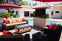 Outdoor Tv Furniture Stucco Motorized Cabinet