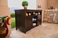 Veranda patio server lift cabinet hides TV and more ...