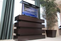 TV cabinet lift | TV cabinet with lift | Le Bloc TV cabinet