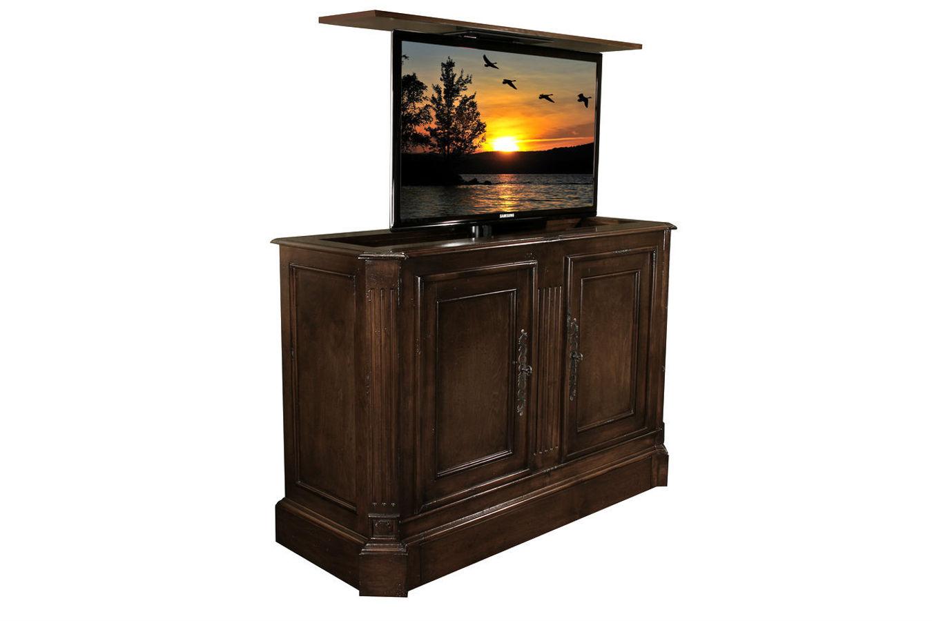 Flat screen tv riser  Sierra TV lift cabinets