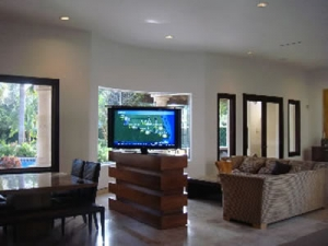 TV Lift Cabinet Furniture Center of Room Photo Gallery