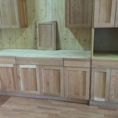 Unpainted Kitchen Cabinets Ikea Appliances Unfinished Natural American Cherry Shaker