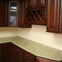 Assembled Kitchen Cabinets Appliances Mahogany Colored Maple