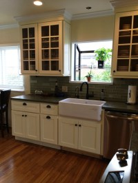 Cream colored Beech Shaker Kitchen Cabinets