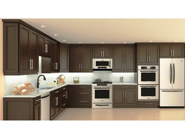 Chocolate Maple recessed Panel Kitchen Cabinets