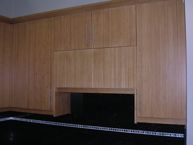 Bamboo Flat Panel Kitchen Cabinets