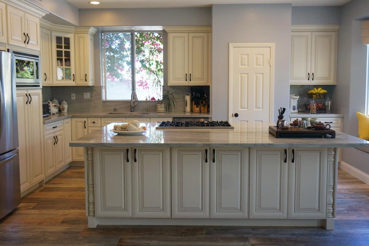 antique white kitchen cabinets modern pendant lighting rta