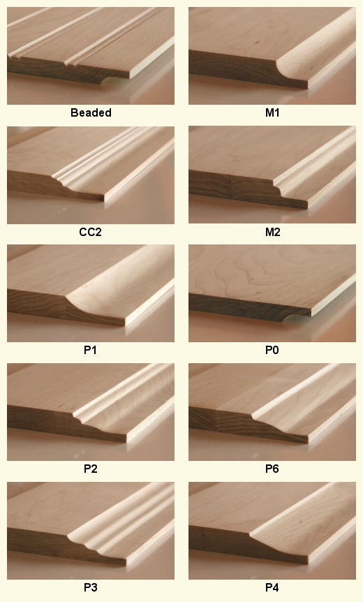 home depot unfinished kitchen cabinets delta lewiston faucet wood door panel profiles @ cabinet doors