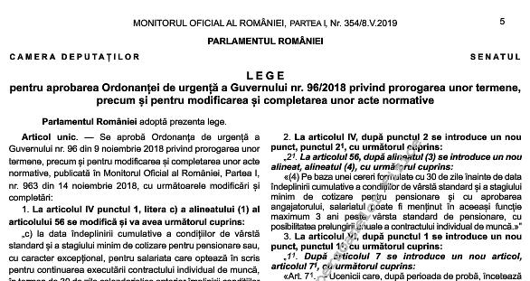 Legea nr. 93/2019