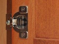 Door Hinge Photograph - Hidden Cabinet Door Hinge