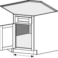 Kitchen Sink Cabinets Island Granite Top Breakfast Bar Base Cabinet Joint Corner
