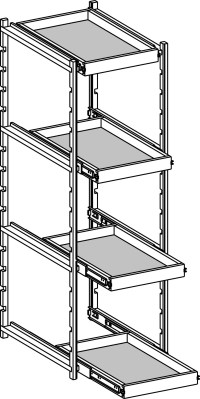 Pull Out Trays - Tall Cabinets - Cabinet Joint