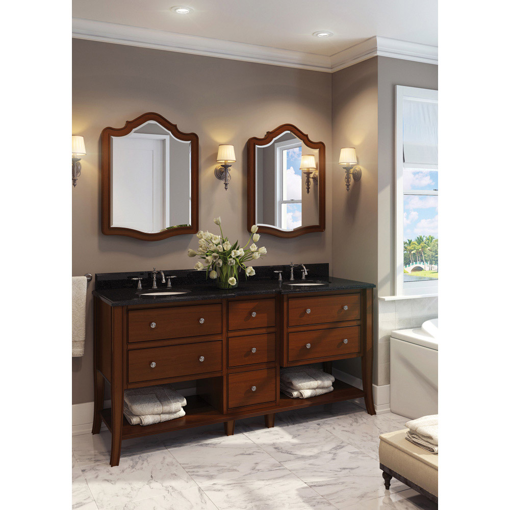 Hardware Resources Shop VAN081D72T  Vanity  Chocolate  Jeffrey Alexander Large Bathroom
