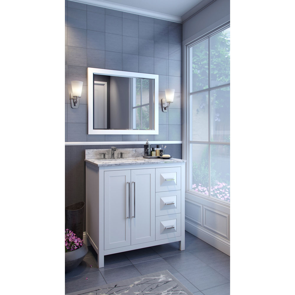Hardware Resources Shop VAN10436T  Vanity  White  Jeffrey Alexander Large Bathroom