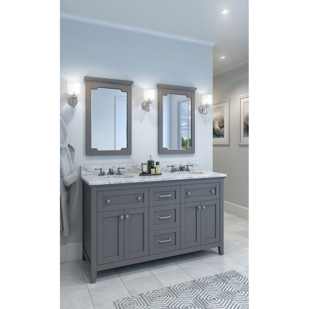 Hardware Resources Shop VAN102D60T  Vanity  Grey  Jeffrey Alexander Large Bathroom
