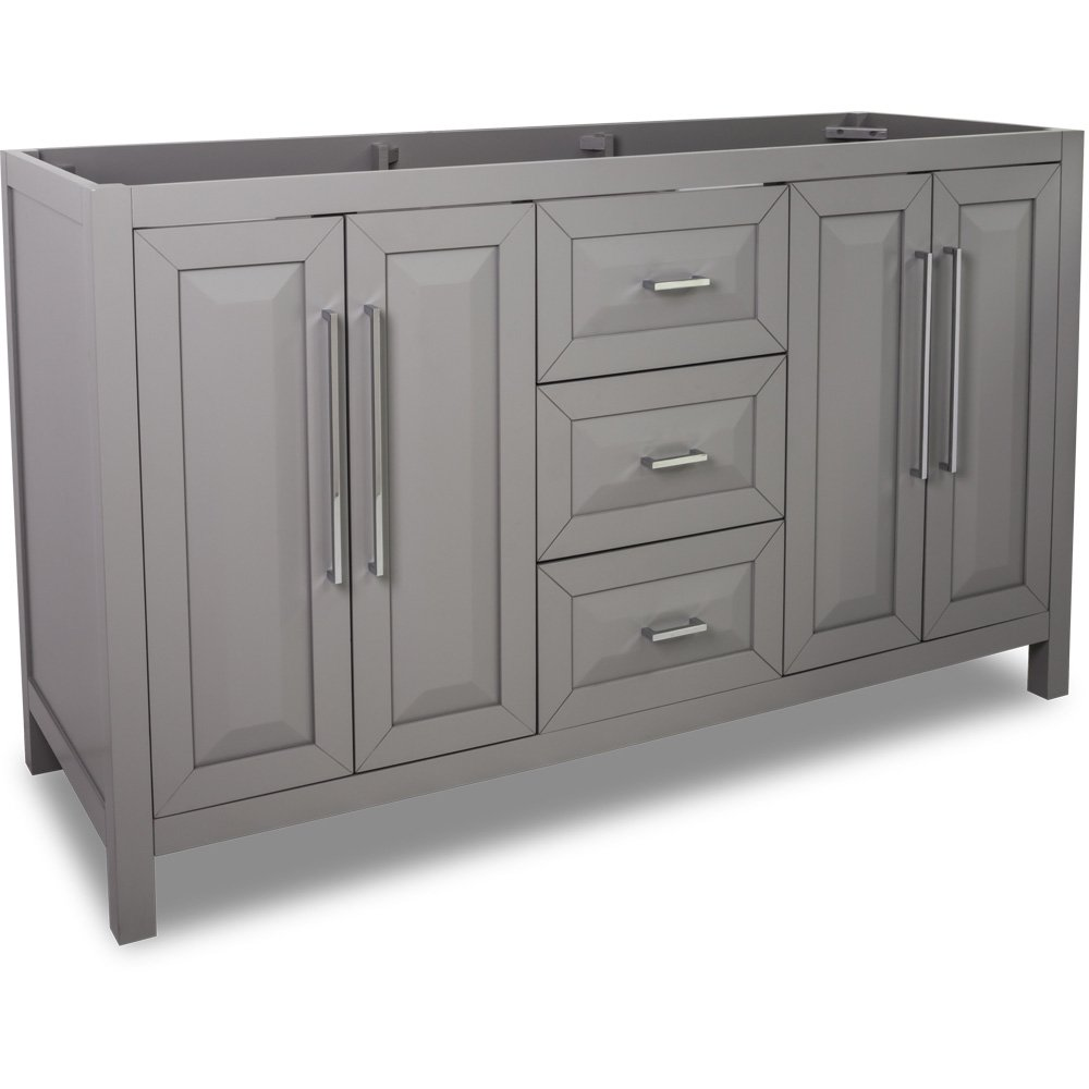 Hardware Resources Shop VAN100D60  Vanity  Grey  Jeffrey Alexander Large Bathroom Vanities