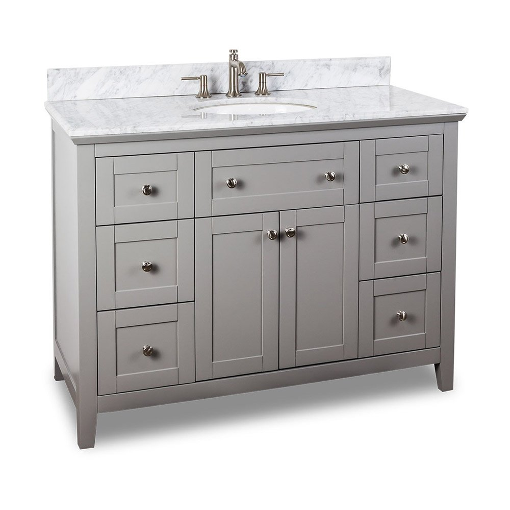 Hardware Resources Shop VAN10248T  Vanity  Grey  Jeffrey Alexander Large Bathroom Vanities