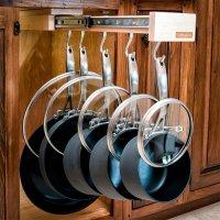 Glideware Pot Rack With 7 Hooks (#GLDWR7HK) by Glideware
