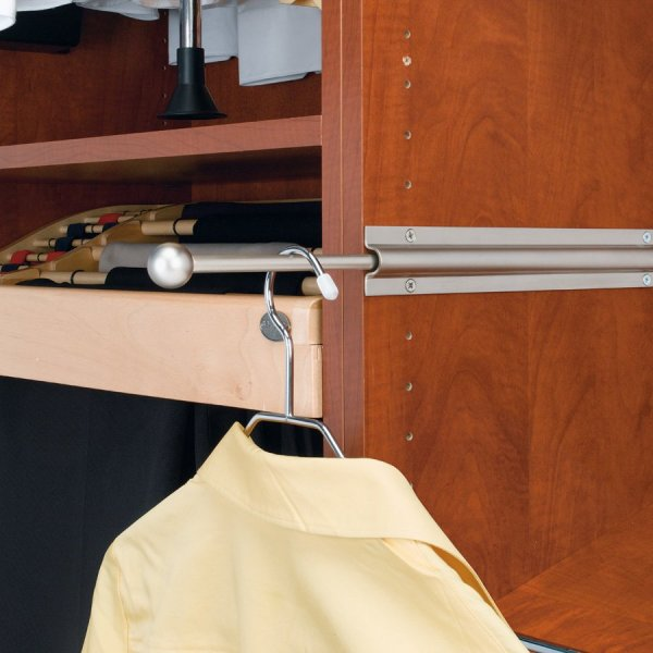 Standard Valet Rod-satin Nickel #cvl-12-sn Rev-shelf