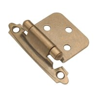 Hickory Hardware Variable Overlay Hinge Pair Antique Brass ...