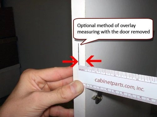 kitchen cabinet replacement chinese range hood how to measure hinge overlay | cabinetparts.com