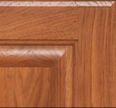 red cherry cabinets kitchen island butcher block top bridgewood advantage hickory finishes,