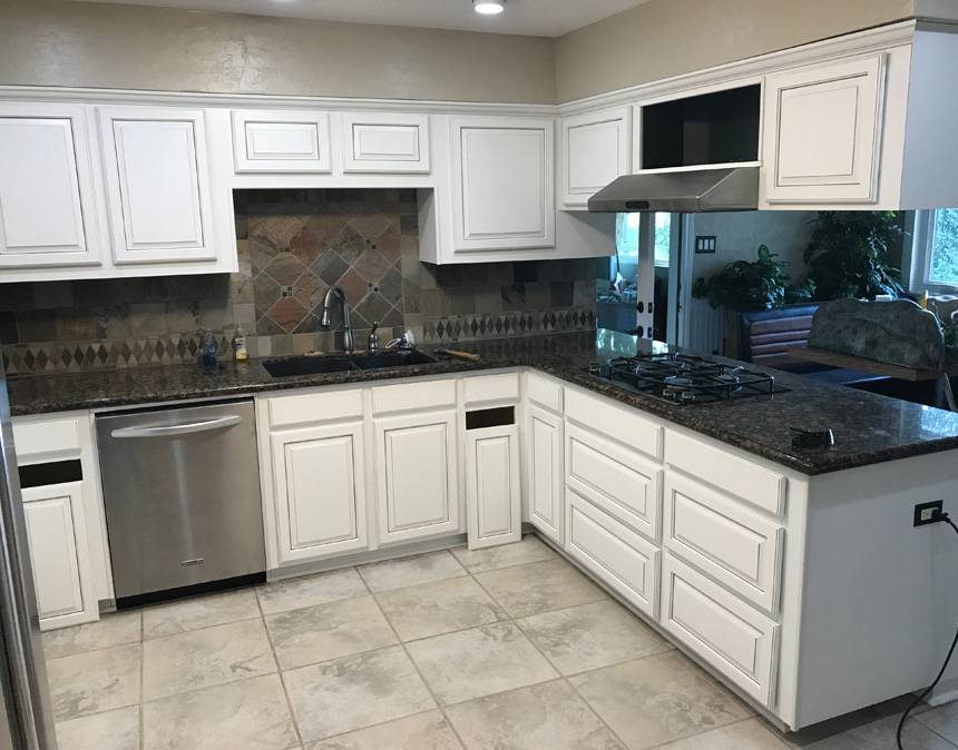 Kitchen Refacing Before After Photos Houston  Cabinet