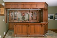 Irish Pub Home Bar - Custom Cabinetry by Ken Leech