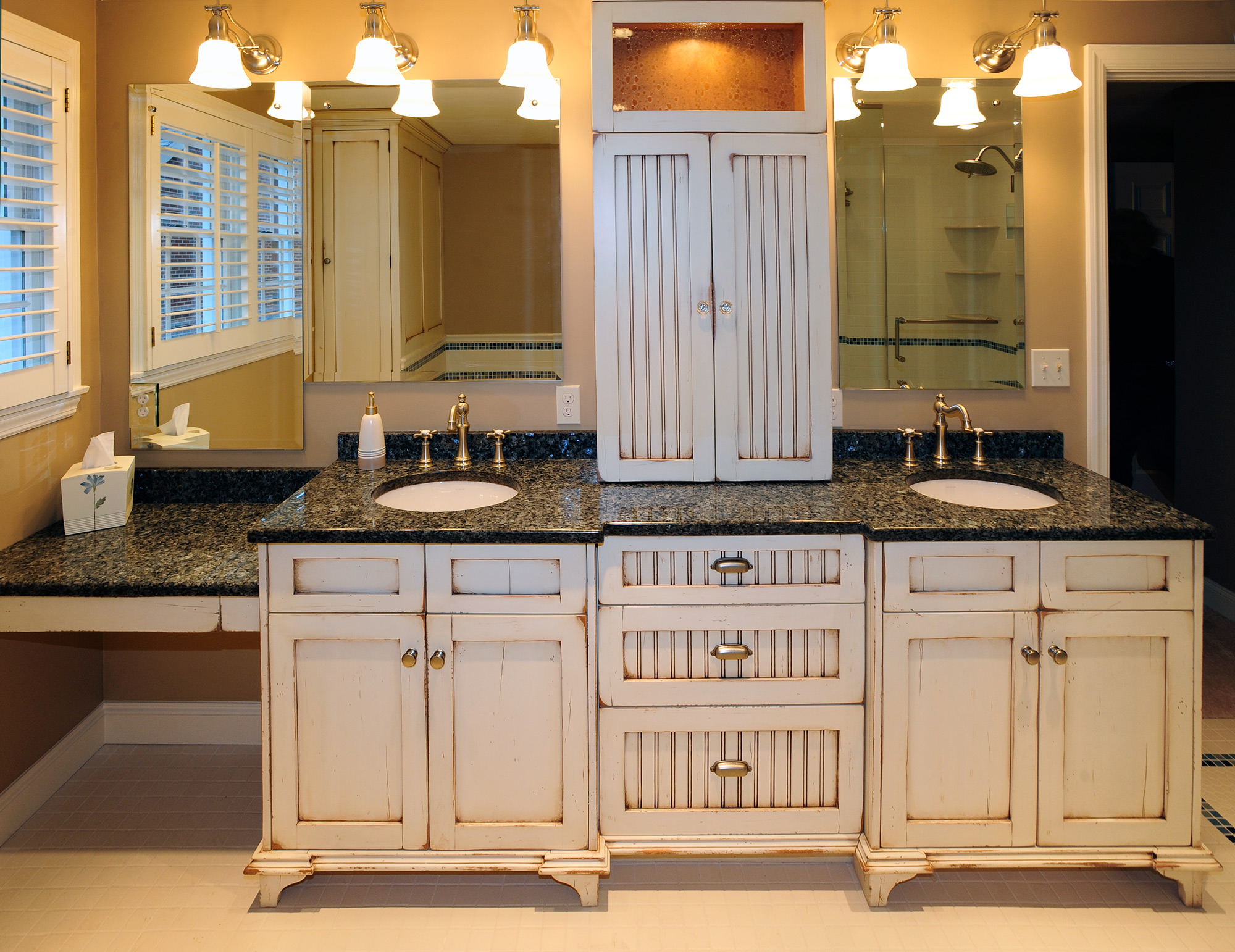 vintage bathroom vanity - custom cabinetry by ken leech