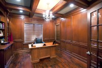 Maple Paneled Den - Custom Cabinetry by Ken Leech