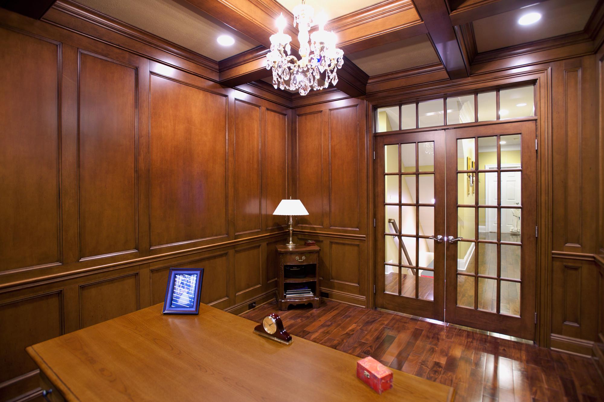 Maple Paneled Den Custom Cabinetry By Ken Leech