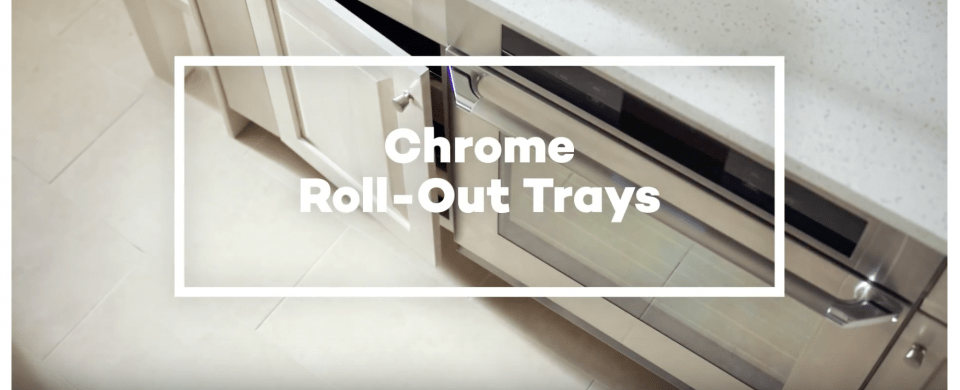 VIDEO KraftMaid Chrome Deluxe RollOut Tray  Cabinets