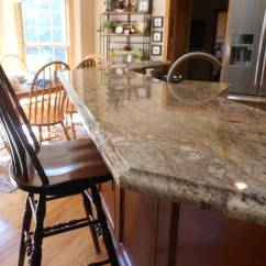 Kitchen Faucet Commercial Style Floor Tile Designs Ogee Edge On Granite Bar Top - Cabinets2countertops