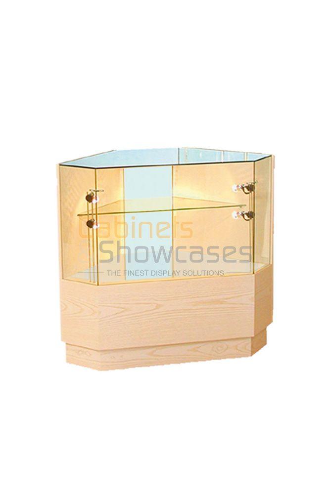 Wooden Corner Display Counter