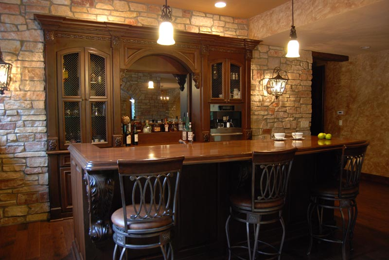 Rich  Traditional Bar  Cabinets by Graber