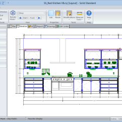 Kitchen Cabinet Software Faux Brick Solid Standard Vision Cad Drawing