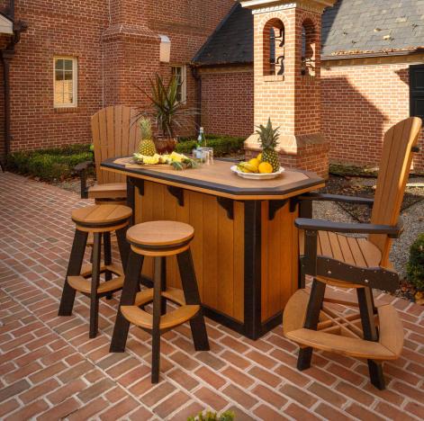 summerside amish outdoor bar set