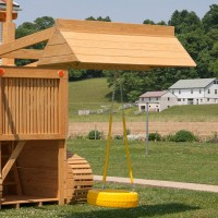 Playground Equipment or Backyard Playsets:Wooden Swing Set ...