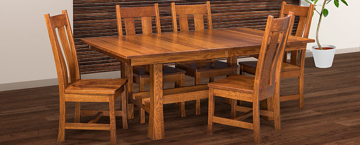 amish dining room tables chairs sets mission style cabinfield fine furniture