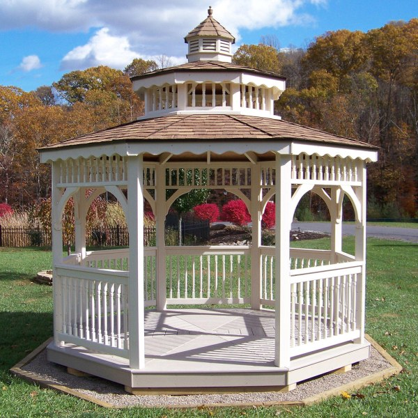 Amish Vinyl Screened Patio and Garden Gazebos Kit In 8-16 ...