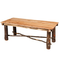 Amish Built Sofa Tables Cheap Cute Sofas Allegheny Cross Base Coffee Table Hickory Cabinfield Fine Furniture