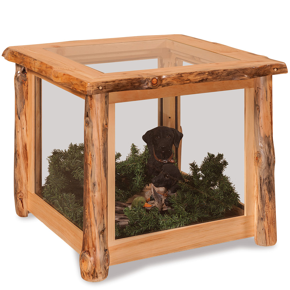 elkhorn amish end table display case