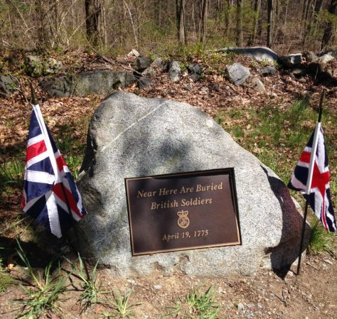 Grim reminders along the Battle Road at Minute Man National Historical Park