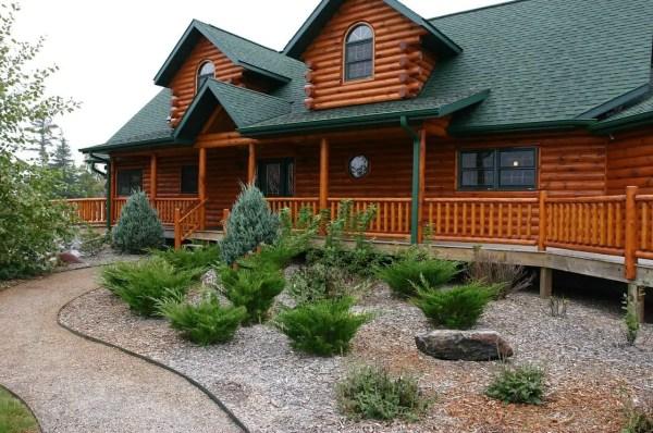 log cabin kits - custom home