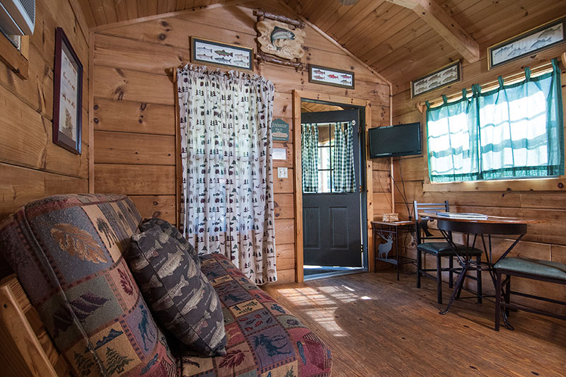 Onebedroom Cabin with Loft in Campground With Creek Tube