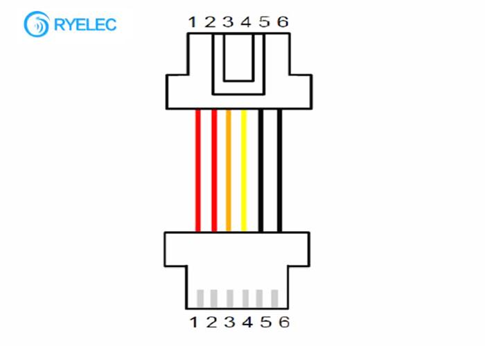 Both Ends 6 Pin Custom Made Wiring Harness Molex 502439