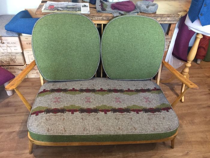100% wool upholstery fabric