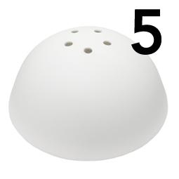 Takkopp med 5 hål för lampsladd