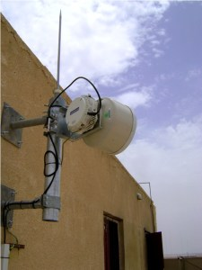 Example of a CableFree Microwave Link Installation